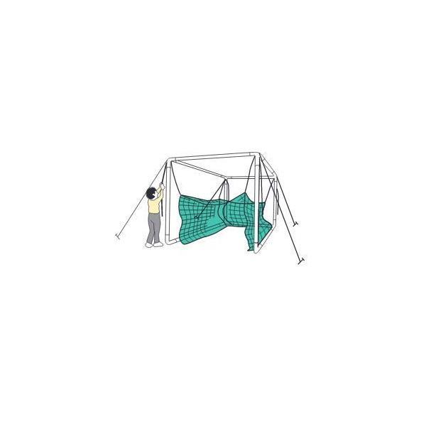 鵜沢ネット ホームゴルフネット GMタイプ 3×3×3m 色グリーン 組立簡単ネット吊り下げ式 日本製 ゴルフ練習|kodomor|07