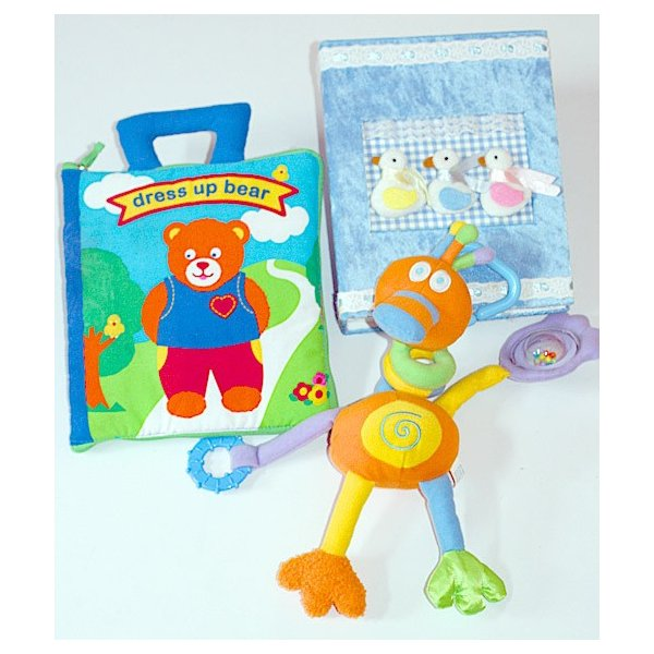 ギフトセット  布絵本--布おもちゃ 出産祝い dress up bear--アクティビティ・トイダック プラスおまけ付きアルバム 知育