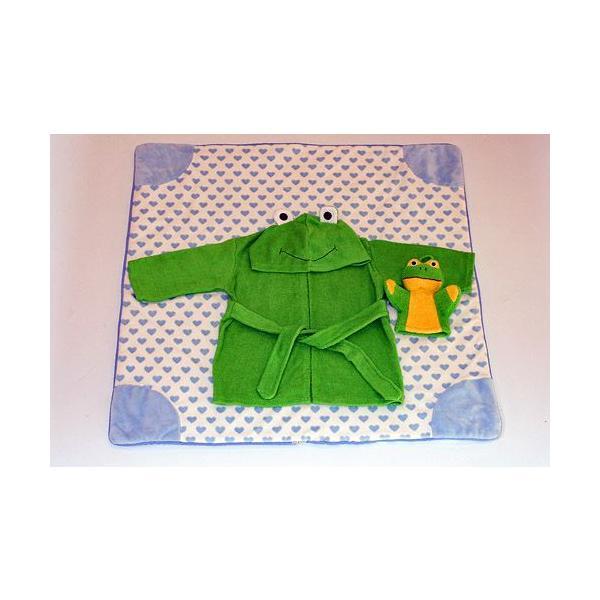 ギフトセット ご出産祝い お誕生日 ベビークレープコレクション バスローブ  ブランケット布のおもちゃ 3点組み