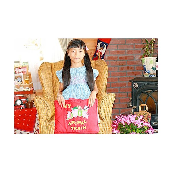 布絵本 知能開発レッスンブック MY ABC ANIMAL TRAIN  レッド       刺しゅう入りABC英語バッグ      英語教育  幼児教育