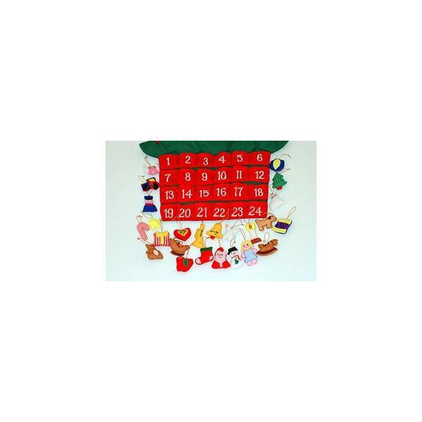 クリスマス           布のアドベント カレンダー         布の壁掛けクリスマスツリーボタンかけ    オーナメント24個付き  メリークリスマス!!|kodomoseikatsuclub|04