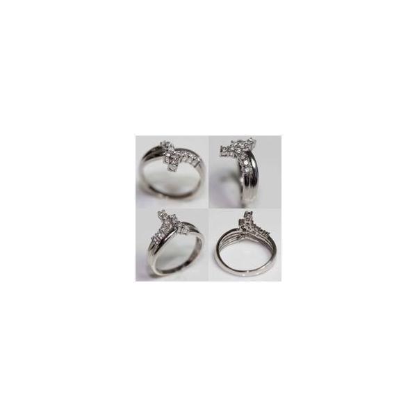 Pt プラチナ リング 指輪 Pt900 D.0.3ct 4.6g サイズ11.5号/MR321/中古/質屋出品/あすつく/