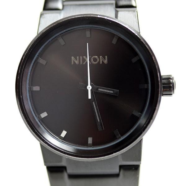 NIXON/ニクソンTHE CANNON / キャノン A160001 ALL BLACK オールブラック メンズ腕時 クオーツ QZ/あすつく  MT1869 中古|koera