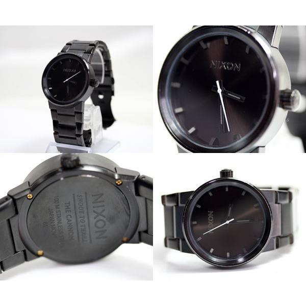 NIXON/ニクソンTHE CANNON / キャノン A160001 ALL BLACK オールブラック メンズ腕時 クオーツ QZ/あすつく  MT1869 中古|koera|02