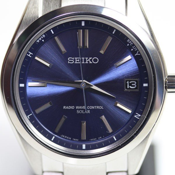 d8375ac3f1 SEIKO セイコー ブライツ BRIGHTZ ソーラー電波修正 サファイアガラス SAGZ081 男性用腕時計 メンズ チタン 青 ...