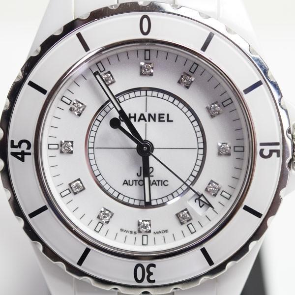0288d353f90a シャネル CHANEL J12 メンズ腕時計 ホワイトセラミック H1629 オートマ 自動巻き ダイヤ12P文字盤 MT1494 ...