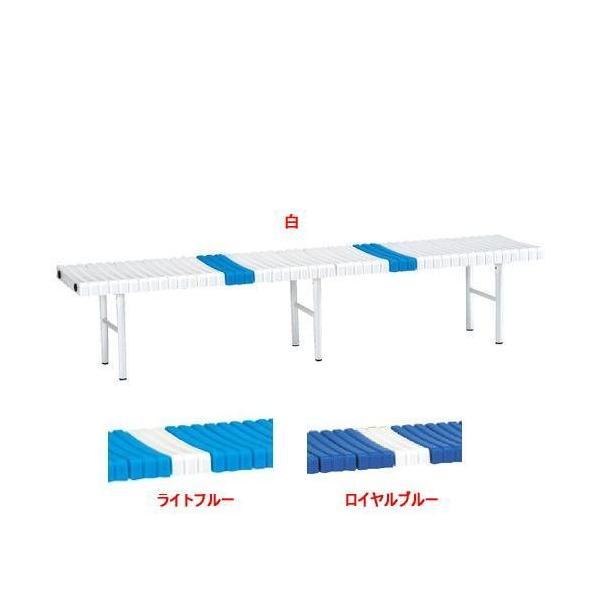 エバニュー EVERNEW パーク ベンチ スチール 180 長さ181×幅39.5×高さ37cm ライトブルー 日本製 組立品 グラウンド 体育 学校 送料無料 EKA685