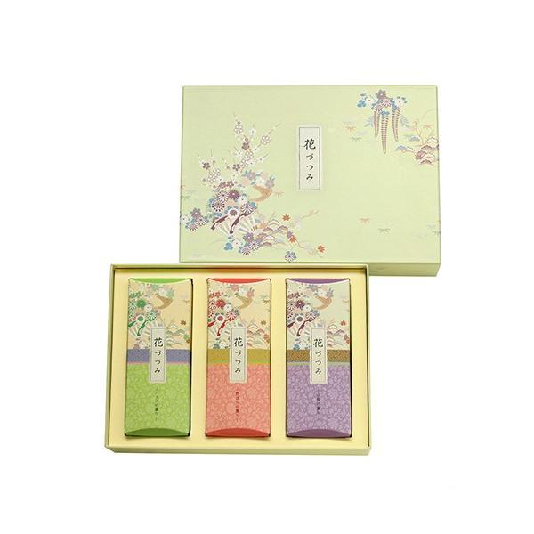 線香 ギフト 贈答用 送料無料 日本香堂 喪中見舞い 花づつみ 進物3種入ライター付 kohgallery