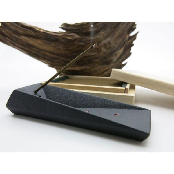 お香 贈答用にも 梅栄堂謹製 伽羅のお香と南部鉄器香立てセット「KYARA」限定品 送料無料|kohgen