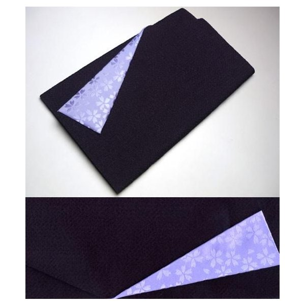 袱紗 ふくさ おしゃれ 縮緬(ちりめん) 桜小紋柄 紫