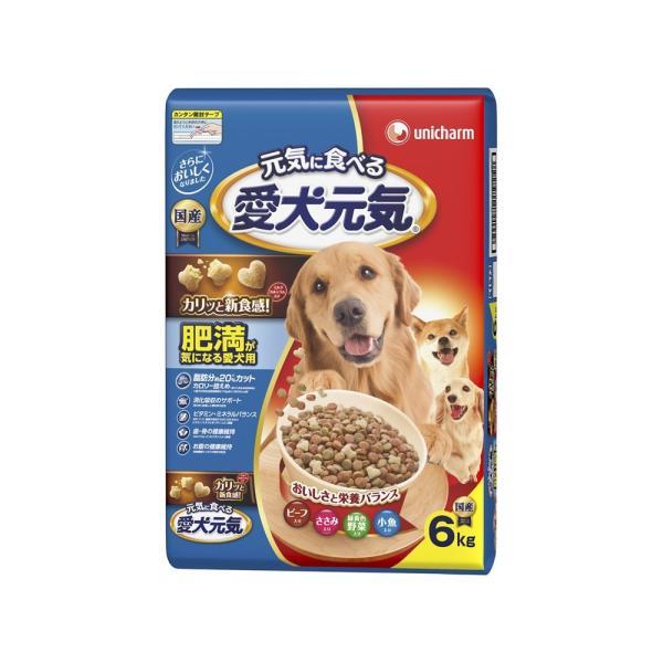 ユニ・チャーム  愛犬元気肥満が気になる愛犬用ビーフ・ささみ・緑黄色野菜・小魚入り6kg【ドッグフード ドライ】