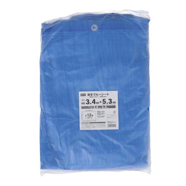 コーナン オリジナル PROACT 薄手ブルーシートPR 規格サイズ:3.6×5.4m   規格サイズ:3.6×5.4m  実寸:(約)3.5×5.3m