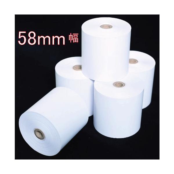 レジロール 感熱ロール紙 サーマル 58mm x 12mm x 80mm 20巻 カシオ・シャープ・東芝TEC対応