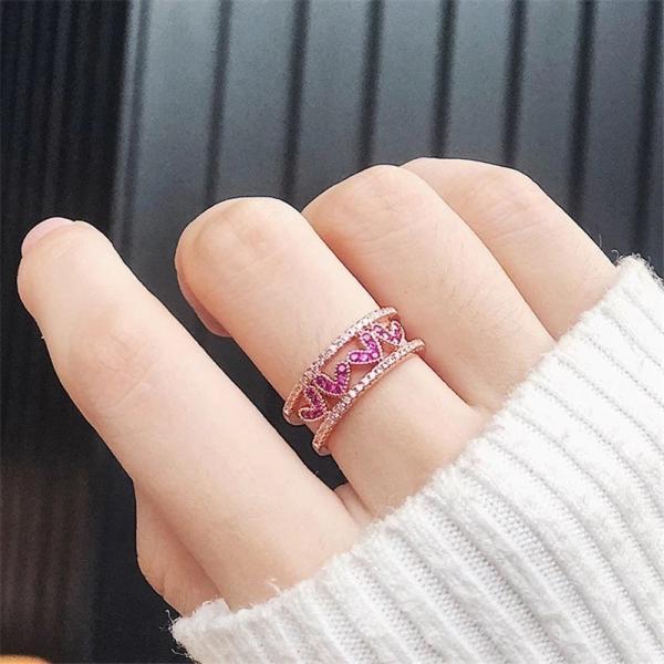 指輪 レディース リング ハート おしゃれ 可愛い ローズゴールド 送料無料|koisuru