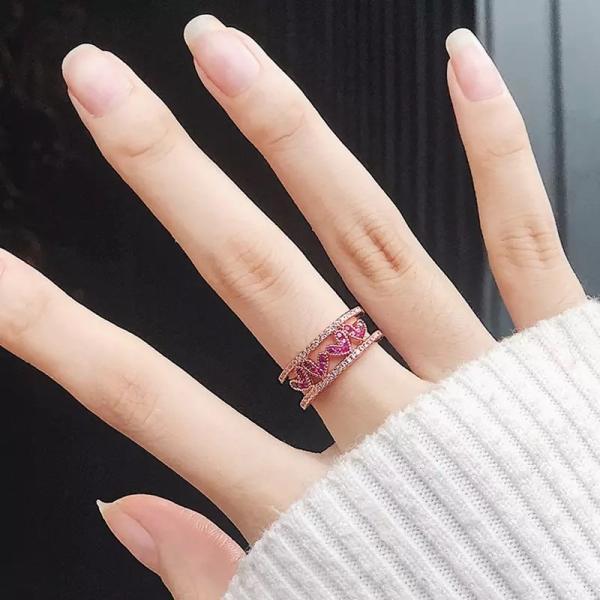 指輪 レディース リング ハート おしゃれ 可愛い ローズゴールド 送料無料|koisuru|05