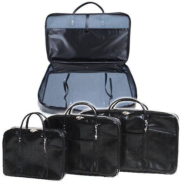 法衣鞄 黒 カブロン PUレザー 製 小 幅42cm×高さ30cm×厚み9.5cm 法衣かばん 法衣カバン ほういかばん
