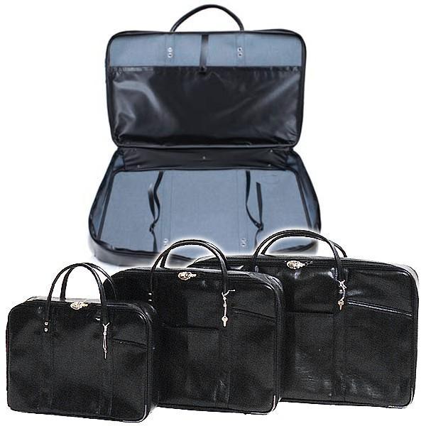 法衣鞄 黒 カブロン PUレザー 製 中 幅50cm×高さ37cm×厚み9.5cm 法衣かばん 法衣カバン ほういかばん