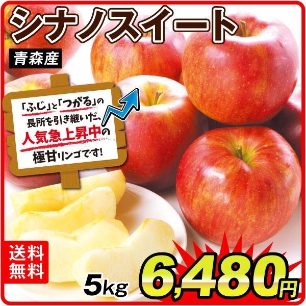りんご 大特価 青森産 シナノスイート 5kg ご家庭用 送料無料 食品
