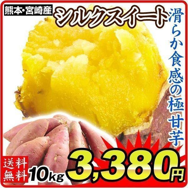 さつまいも 熊本・宮崎産 シルクスイート 10kg  訳あり ご家庭用 甘藷 サツマイモ 野菜 数量限定 国華園