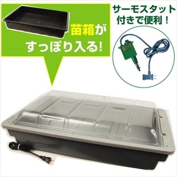 発芽育苗器 菜友器(さいゆうき) 1台 加温用グリーンサーモ付 国華園