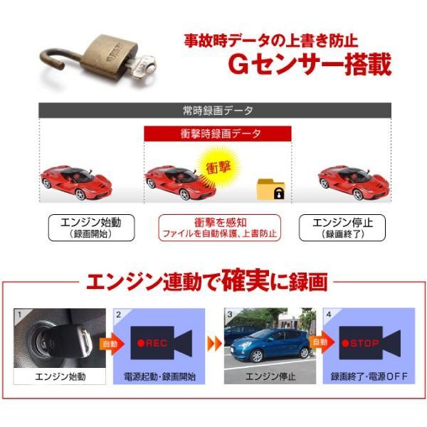 ドライブレコーダー ドラレコ 送料無料 1200万画素  お手軽・フルHDドライブレコーダー(SDカード16GB付) 1個 高画質 Gセンサー搭載 12/24V車対応 日本語説明書|kokkaen|06