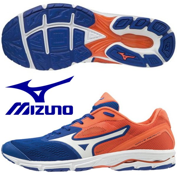 ミズノ MIZUNO/メンズ マラソン ランニングシューズ /ウエーブエアロ 17/ WAVE AERO 17/J1GA193501/ブルー×オレンジ/マラソン初心者にオススメ!
