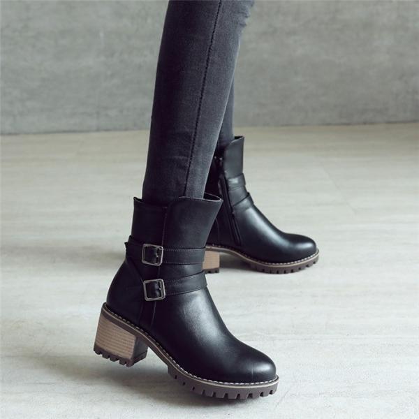 ブーツ  レディーズ  ブーティ ショートブーツ フェイクレザー  カジュアルシューズ コンフォート 通勤 通学 靴