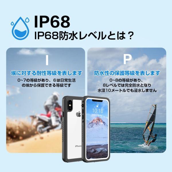 iphone 防水ケース スマホケース iphone7/8/Plus/iphoneXr/iphone XS/X/xs max 耐衝撃 工事現場完全防水アイフォン米軍MIL規格 風呂 プール海砂浜|kokobi|04