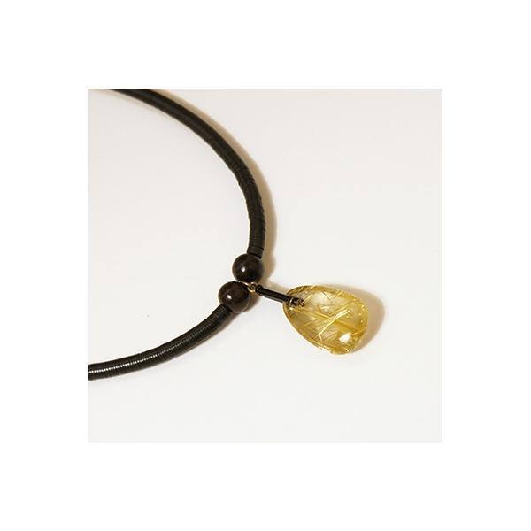 針水晶(ルチルクォーツ)ネックレス001|kokochi
