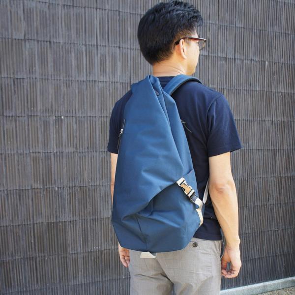 三角リュック コーデュラナイロン ネイビー  heart made factory ハーベスト H.M.F FY-0935 kokochi