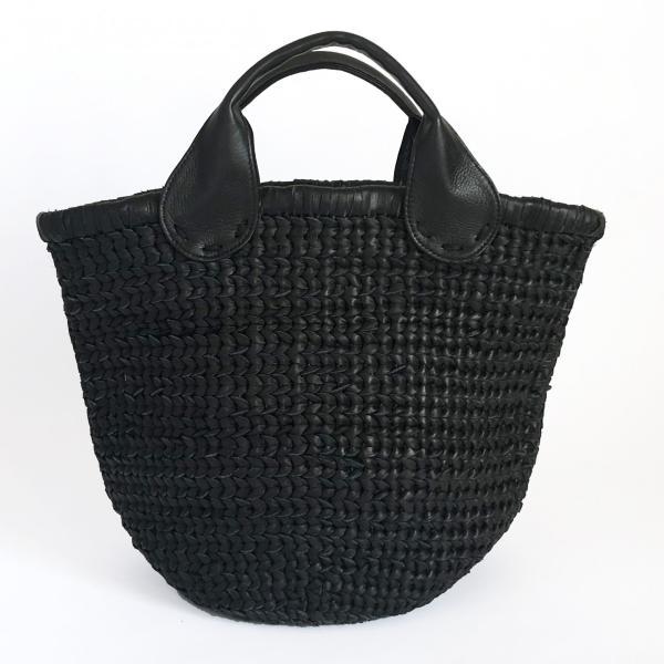 POMTATA ポンタタ カゴのような革トートバッグ AMICO P0115 ブラック|kokochi|04