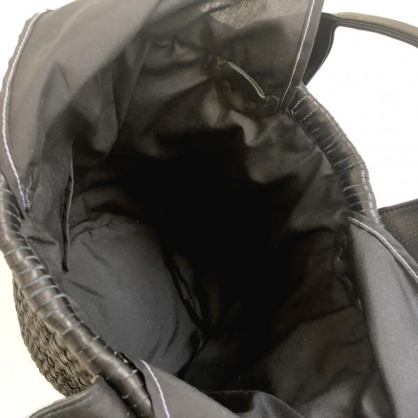 POMTATA ポンタタ カゴのような革トートバッグ AMICO P0115 ブラック|kokochi|06