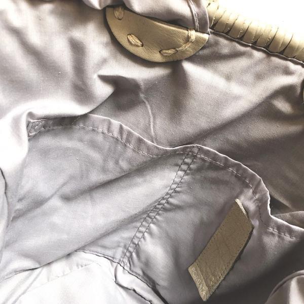 POMTATA ポンタタ カゴのような革トートバッグ AMICO P0115 ライトグレー kokochi 10