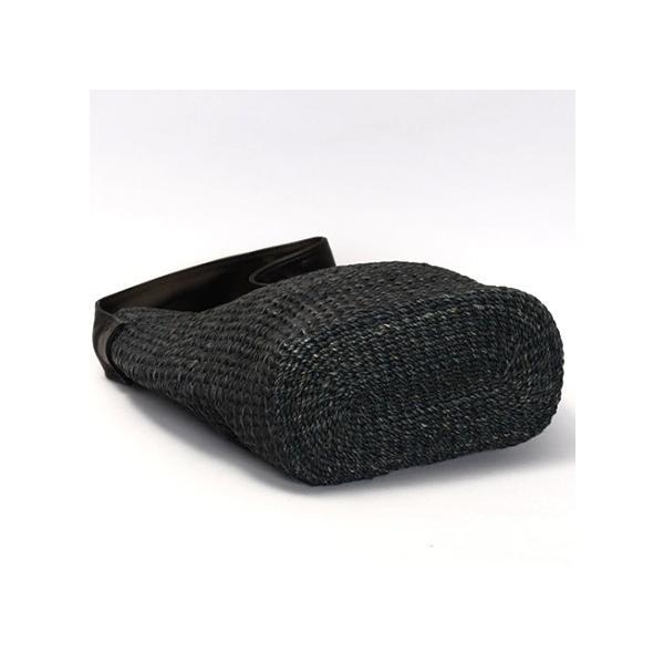 POMTATA ポンタタ カゴのような革ショルダーバッグ AMICO P0116 ブラック|kokochi|09