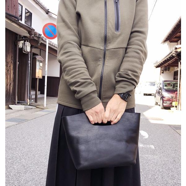 Contessa(コンテッサ) レザーくりぬきトート・ショルダー S black