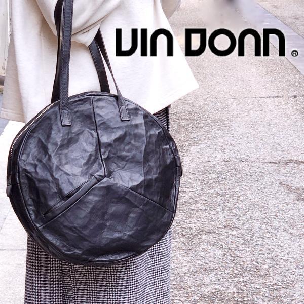 VIA DOAN ヴィアドアン Country 丸型レザートートバッグ 1704  アルミ貼り 黒 日本製 kokochi