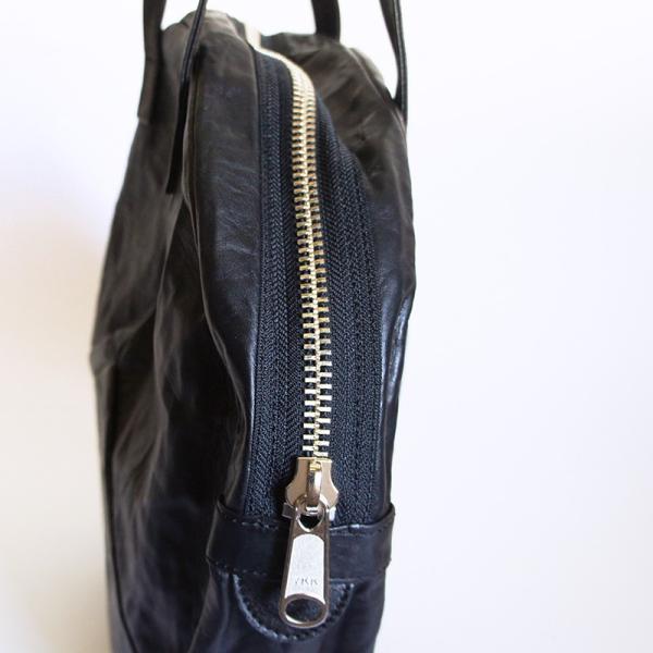 VIA DOAN ヴィアドアン Country 丸型レザートートバッグ 1704  アルミ貼り 黒 日本製 kokochi 05