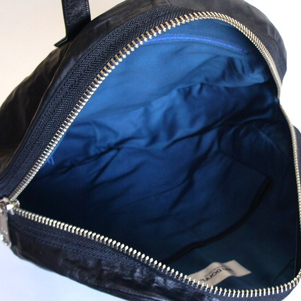 VIA DOAN ヴィアドアン Country 丸型レザートートバッグ 1704  アルミ貼り 黒 日本製 kokochi 06