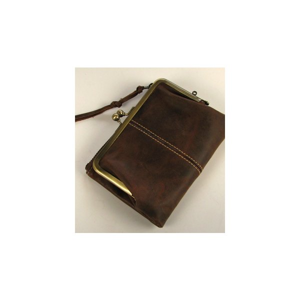 Ain Soph(アインソフ)二つ折がま口財布  チョコ|kokochi