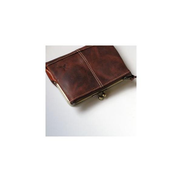 Ain Soph(アインソフ)二つ折がま口財布  チョコ|kokochi|05