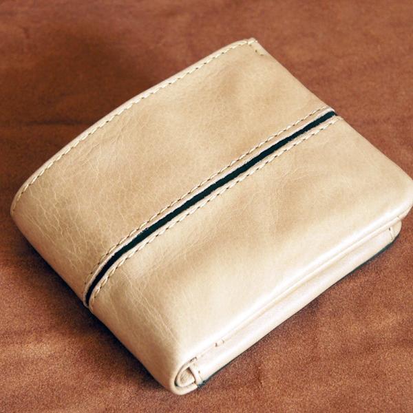 Baggy Port(バギーポート)二つ折財布 フルクロームツートン HRD-408 ベージュ|kokochi