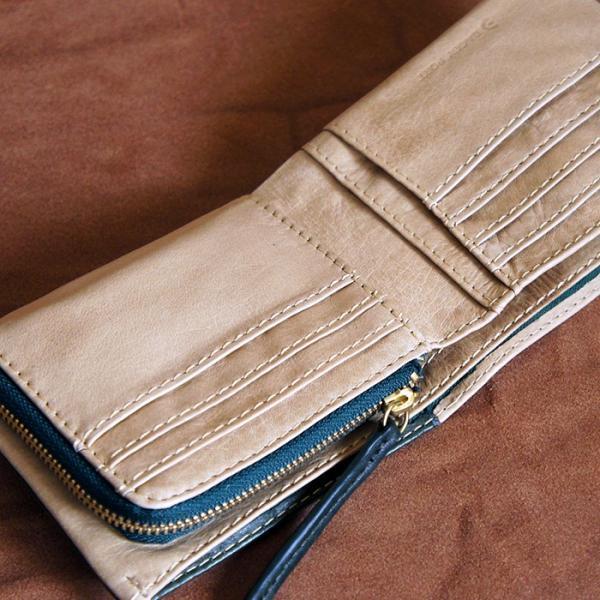 Baggy Port(バギーポート)二つ折財布 フルクロームツートン HRD-408 ベージュ|kokochi|03