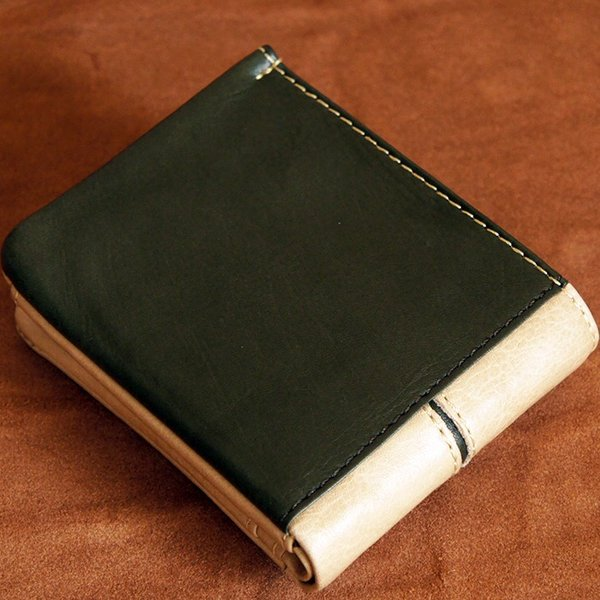 Baggy Port(バギーポート)二つ折財布 フルクロームツートン HRD-408 ベージュ|kokochi|04