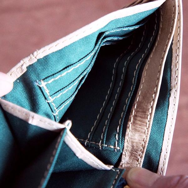 Baggy Port(バギーポート)二つ折財布 フルクロームツートン HRD-408 ベージュ|kokochi|05
