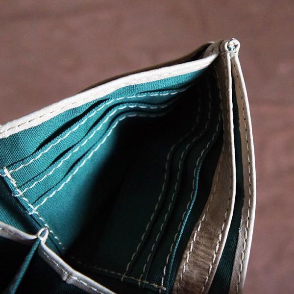 Baggy Port(バギーポート)二つ折財布 フルクロームツートン HRD-408 ベージュ|kokochi|06