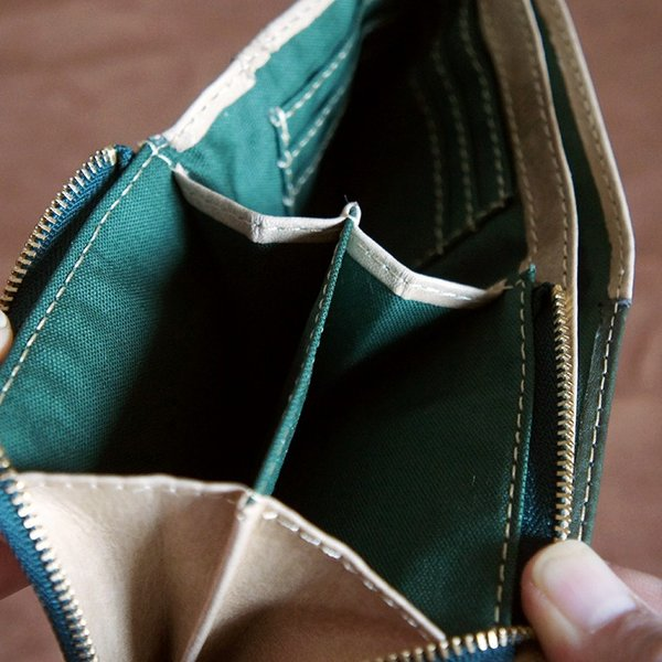 Baggy Port(バギーポート)二つ折財布 フルクロームツートン HRD-408 ベージュ|kokochi|07