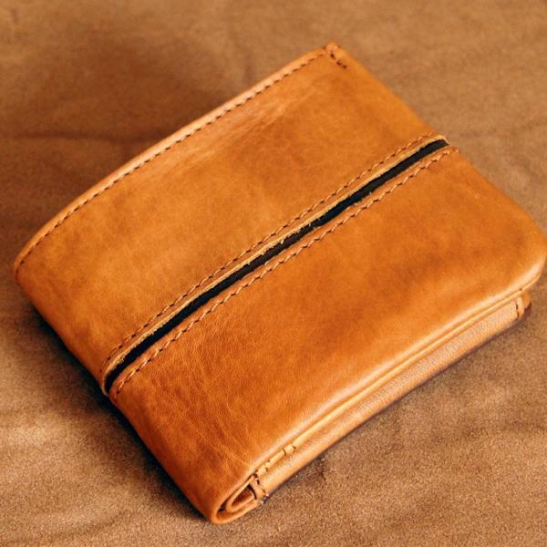 Baggy Port(バギーポート)二つ折財布 フルクロームツートン HRD-408 キャメル|kokochi