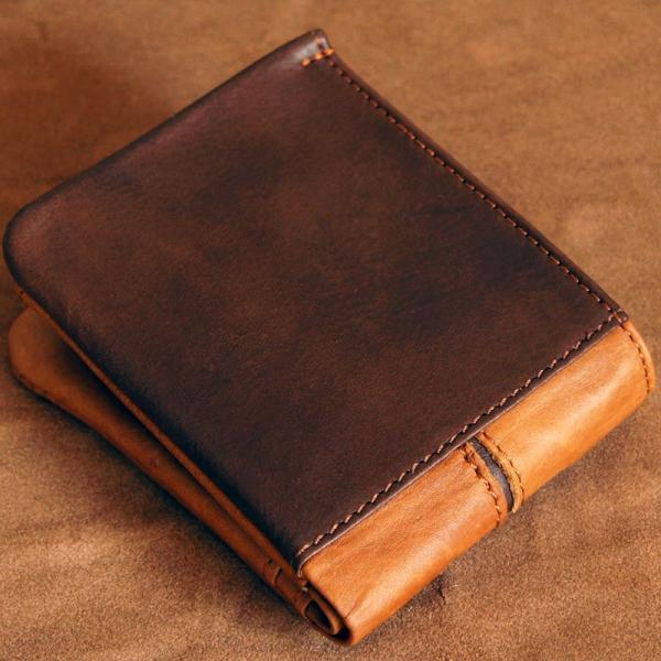 Baggy Port(バギーポート)二つ折財布 フルクロームツートン HRD-408 キャメル|kokochi|02