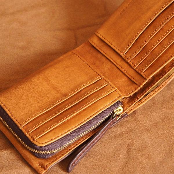 Baggy Port(バギーポート)二つ折財布 フルクロームツートン HRD-408 キャメル|kokochi|03