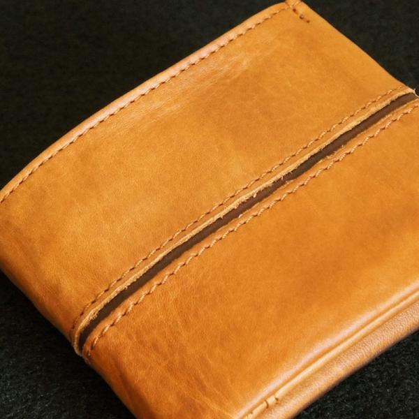 Baggy Port(バギーポート)二つ折財布 フルクロームツートン HRD-408 キャメル|kokochi|04